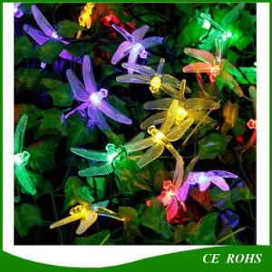 30 LED 6m Dragonfly Solar Power String Lights Waterproof Lamp for Outdoor Indoor pictures & photos
