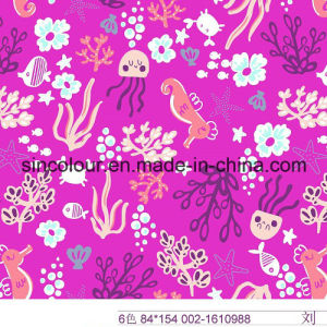 Octopus Sea Fish Knitted Printing 80%Nylon 20%Spandex Fabric pictures & photos