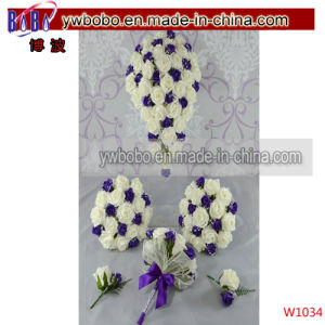 Cadbury Purple Bridal Bouquet Wedding Flowers Bridesmaids Flower Girl (W1034) pictures & photos