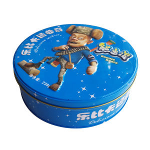 Embossing Cartoon Boonie Bears Printing Biscuit Food Tin pictures & photos