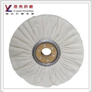 Abrasive Cotton Cloth Fold Buffing Wheel for Metal and Stainless Steel Polishing pictures & photos