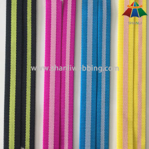 High Quality Bicolor Striped Tubular Nylon Webbing pictures & photos