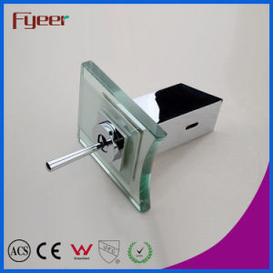 Fyeer Deck Mounted Chrome Plated Glass Waterfall Single Handle Bathroom Wash Basin Brass Faucet Water Sink Mixer Tap Wasserhahn pictures & photos