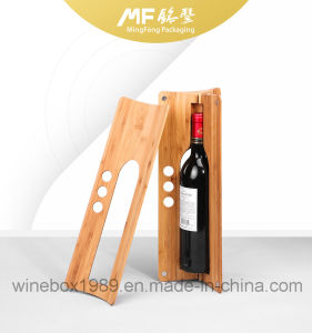 Eco Friendly Disassemble Triangle Carbonized Bamboo Wine Box pictures & photos