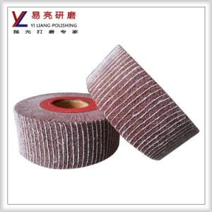 Scouring Pad Interleaved Buff for Iron Holloware Buffing