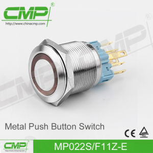 CMP 22mm Momentary Push Button Switch with Ring Illuminated Lamp pictures & photos