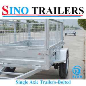 Good Quallity Galvanizing Single Axle Cage Trailer pictures & photos