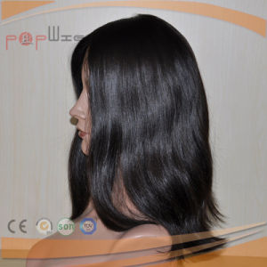 High End Euroean Virgin Hair Best Quality Black Color Skin Top Wig pictures & photos