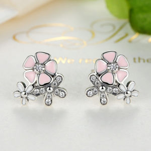 S925 Good Looking Pink Colorful Silver Earrings pictures & photos