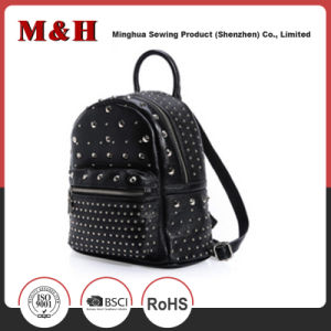 Willow Nail Designer Retro PU Leather Women Backpack pictures & photos