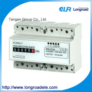 Mini Type DIN Rail Installation Three Phase Electronic Watt-Hour Meter (DTS256 (II)) pictures & photos