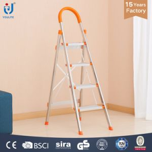 En131 Approved 3 Step Multi-Purpose Household Folding Stainless Steel Ladder pictures & photos