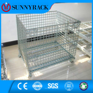 Folding Stackable Warehouse Storage Galvanized Wire Mesh Container pictures & photos