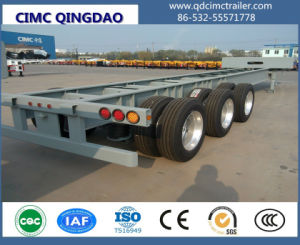 Cimc 2/3 Axles 40FT Skeletal Container Trailer with Twist Locks Truck Chassis pictures & photos