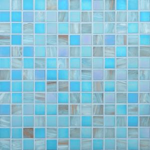 Blue Glass Mosaic Mosaico Chinese Cheap Swimming Pool Mosaic pictures & photos