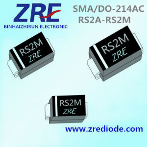 2A RS2a Thru RS2m Surface Mount Fast Recovery Rectifier Diode SMA/Do-214AC pictures & photos