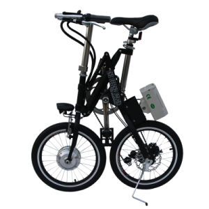 Carbon Steel Folding E-Bike 18inch Integrated Aluminum Wheel pictures & photos