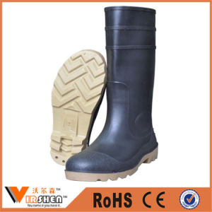 Anti-Piercing Non-Slip and Waterproof Long Rain Boots Wholesale Rubber Working Boots pictures & photos