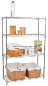 Factory Price 4-Tier 250lbs Chrome Wire Shelving for Home Storage, Hot Sale in The Us Market pictures & photos