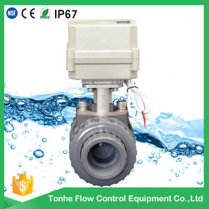 2 Way 1 1/2′′ PVC Electric Actuated Ball Valve pictures & photos