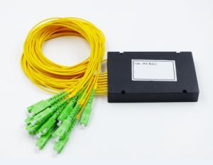 Gpon Epon Telecommunication Low Insertion Loss 1X2/4/8 PLC Splitter Plastic Box pictures & photos