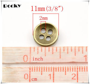 11mm Metal Four Hole Sewing-on Button for Women Garment pictures & photos