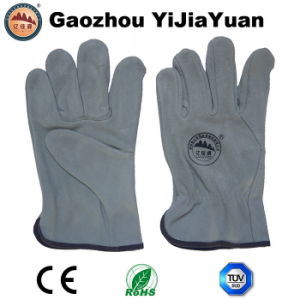 Hand Protection Leather Drivers Gloves pictures & photos