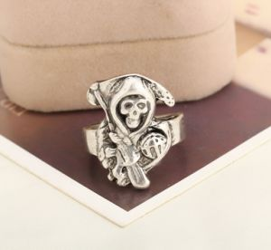 Imitation Jewelry Movie Sons of Anarchy Zinc Alloy Skeleton Prime Ring Gift pictures & photos