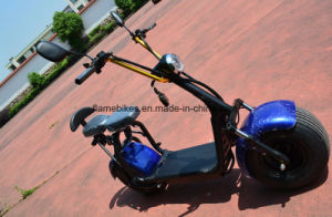1000W Electric Motorcycle with 60V/30ah F/R Suspension, 2 Seats pictures & photos
