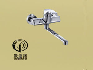 Oudinuo Single Handle Brass Wall-Mounted Kitchen Mixer& Faucet 68018-1 pictures & photos