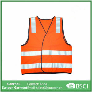 100% Polyster Orange Reflective Vest pictures & photos