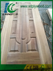 3mm HDF Door Skin Laminated with Teak pictures & photos