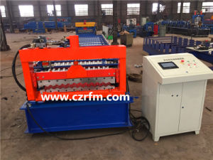 750 Color Steel Roof Tile Roll Forming Machine pictures & photos