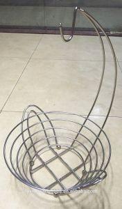 Fruit Hanger Bowl Banana Grape Metal Chrome Wire Kitchen Basket pictures & photos