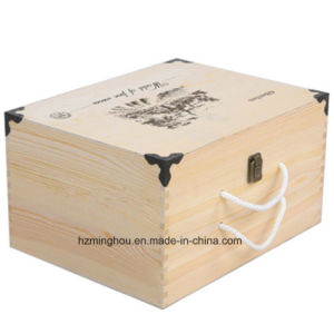 High Quality Lacquered Wine Carrier Wooden Wine Box pictures & photos