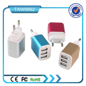 5V 2.1A 3 USB Fast Wall Charger
