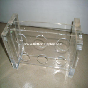 Plastic Acrylic Wine Glass Holder Tray pictures & photos