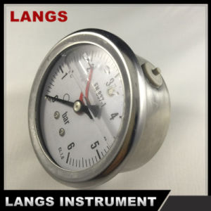 064 63mm Liquid Filled Pressure Gauge OEM (WITH RED WARNING POINTER) pictures & photos