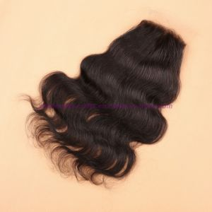 8A Virgin Human Hair Silk Base Closure Unprocessed Peruvian Hair Body Wave Closures