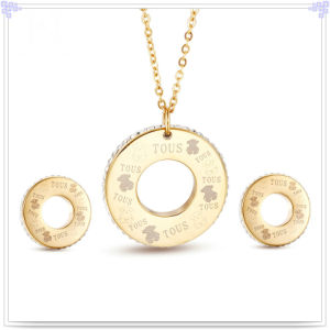 Stainless Steel Jewelry Crystal Jewelry Fashion Jewelry Set (JS0312)