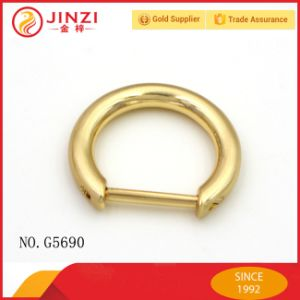 Handbag Metal D Ring with Screw Opening Side pictures & photos