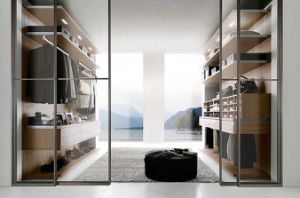 Melamine Wooden Bedroom Wardrobe with Glass Door pictures & photos