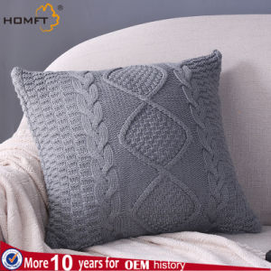 Grey Color Wool Deco Home Bed Pillow pictures & photos