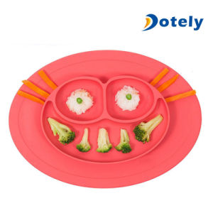 Round Silicone Suction Frog Placemat for Children pictures & photos