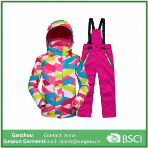 Sporty Ski Suit Kids Clothes Set Boys Girls Jackets pictures & photos