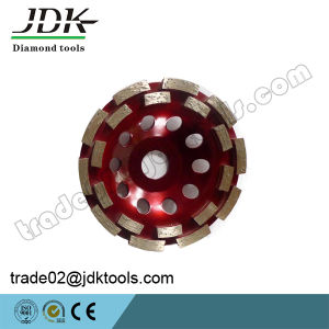 Jdk Diamond Double Row Cup Wheel for Granite Grinding/Abrasive/Polishing Tools pictures & photos