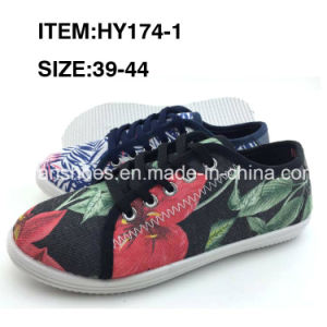 Men Canvas Shoes Injection Casual Footwear Shoes Wholesale (HY174-1) pictures & photos