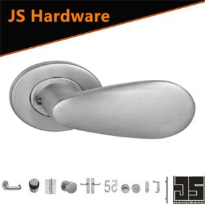 Modern Stainless Steel Solid Door Lever Handles Without Lock