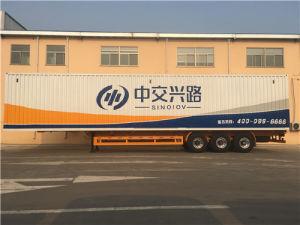 3 Axles Van Box Trailer for Cargo Transport pictures & photos