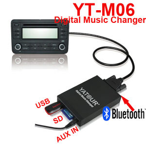 for Volvo Round 8-Pin CD Changer Connection USB/SD/Aux in Playing System (Yatour YT-M06) pictures & photos